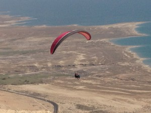 paragliding from Metzoke Dargot