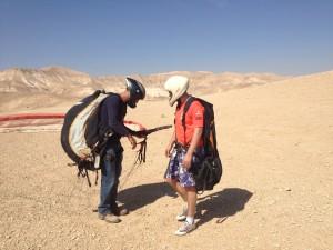 Dead Sea paragliding