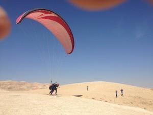 Judean desert paragliding