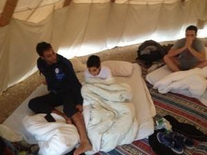 teepee experience in Negev
