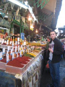 Carmel Market Spice Stalls Tel Aviv